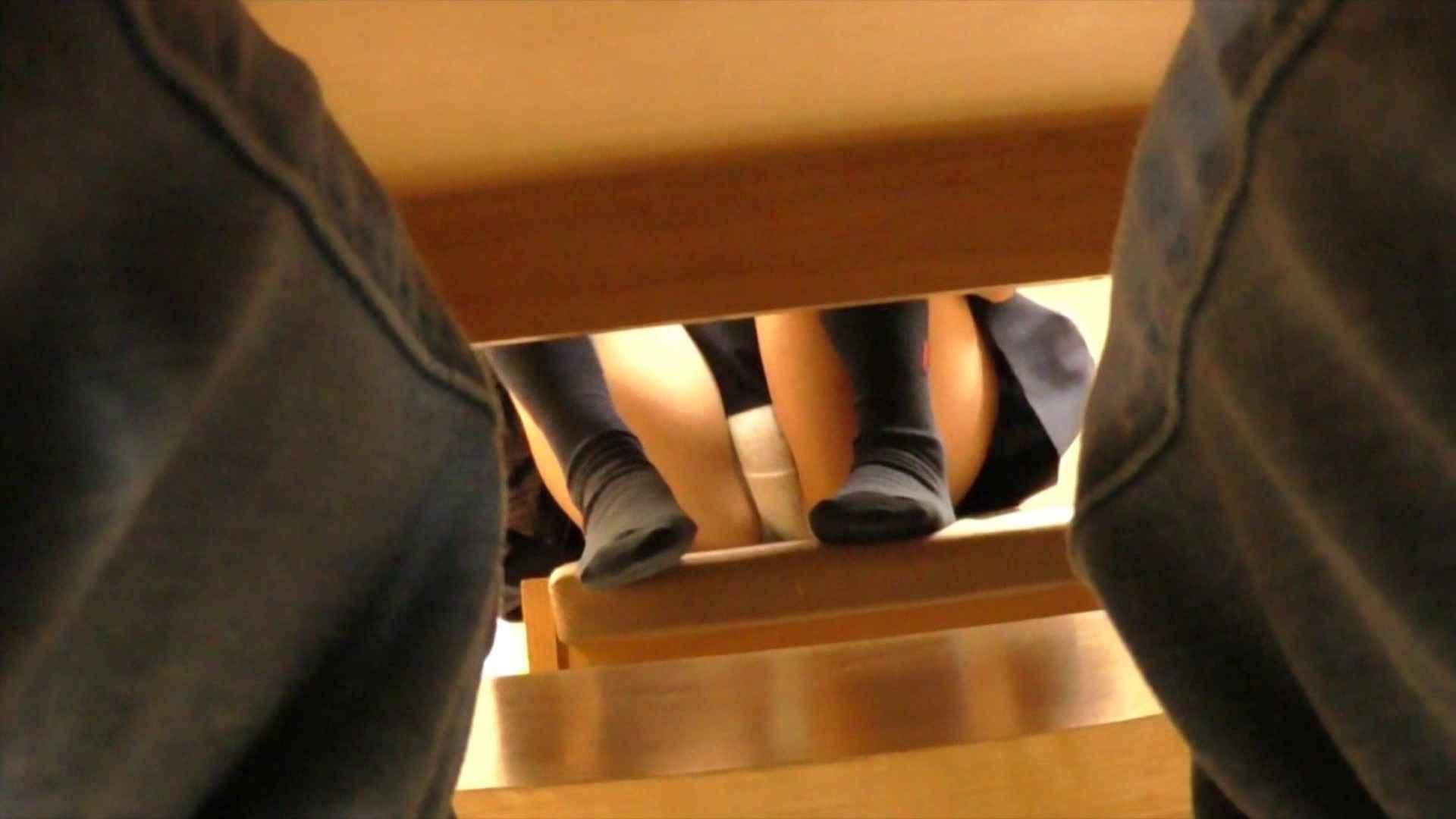 机の下の世界 Vol.02 JD+椅子+体育座り=丸見え!! 丸見え 盗み撮り動画 50連発 8