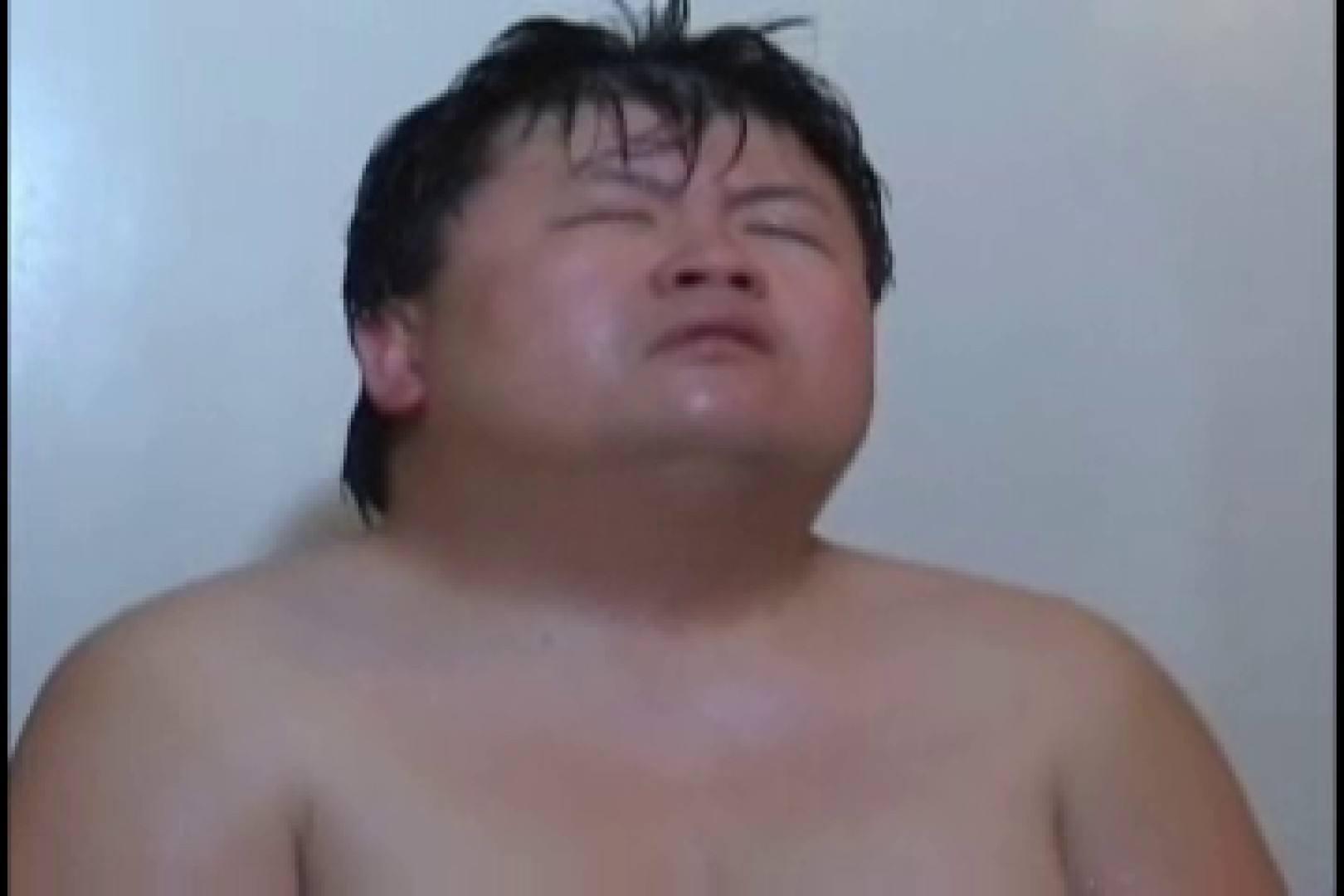 無修正セックス盗撮:オデブなメガネ君のオナ&アナル攻め!:入浴・シャワー