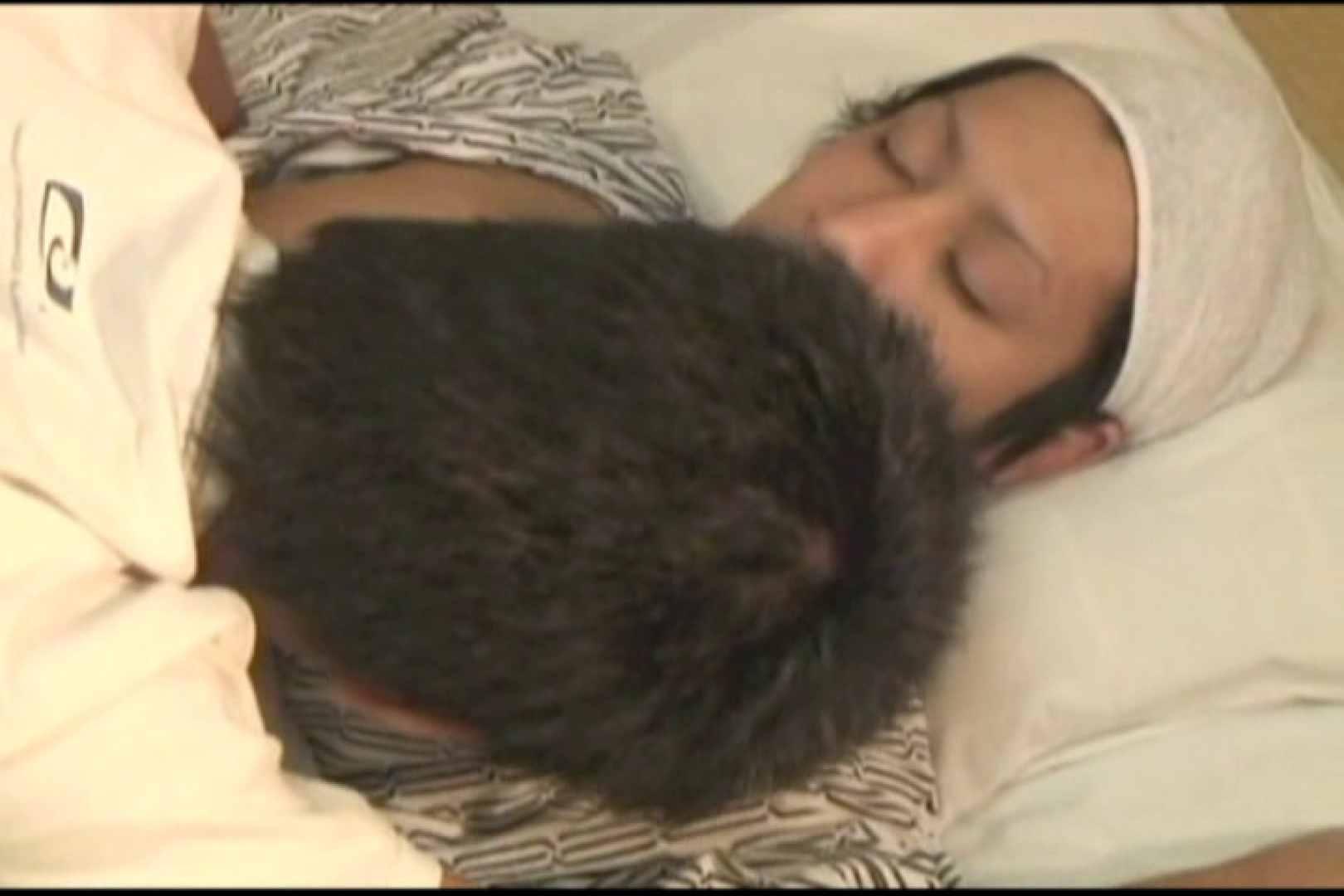 無修正セックス盗撮:ジャニ系で髭がお似合いのお兄ちゃんを喰らう!前編:フェラ