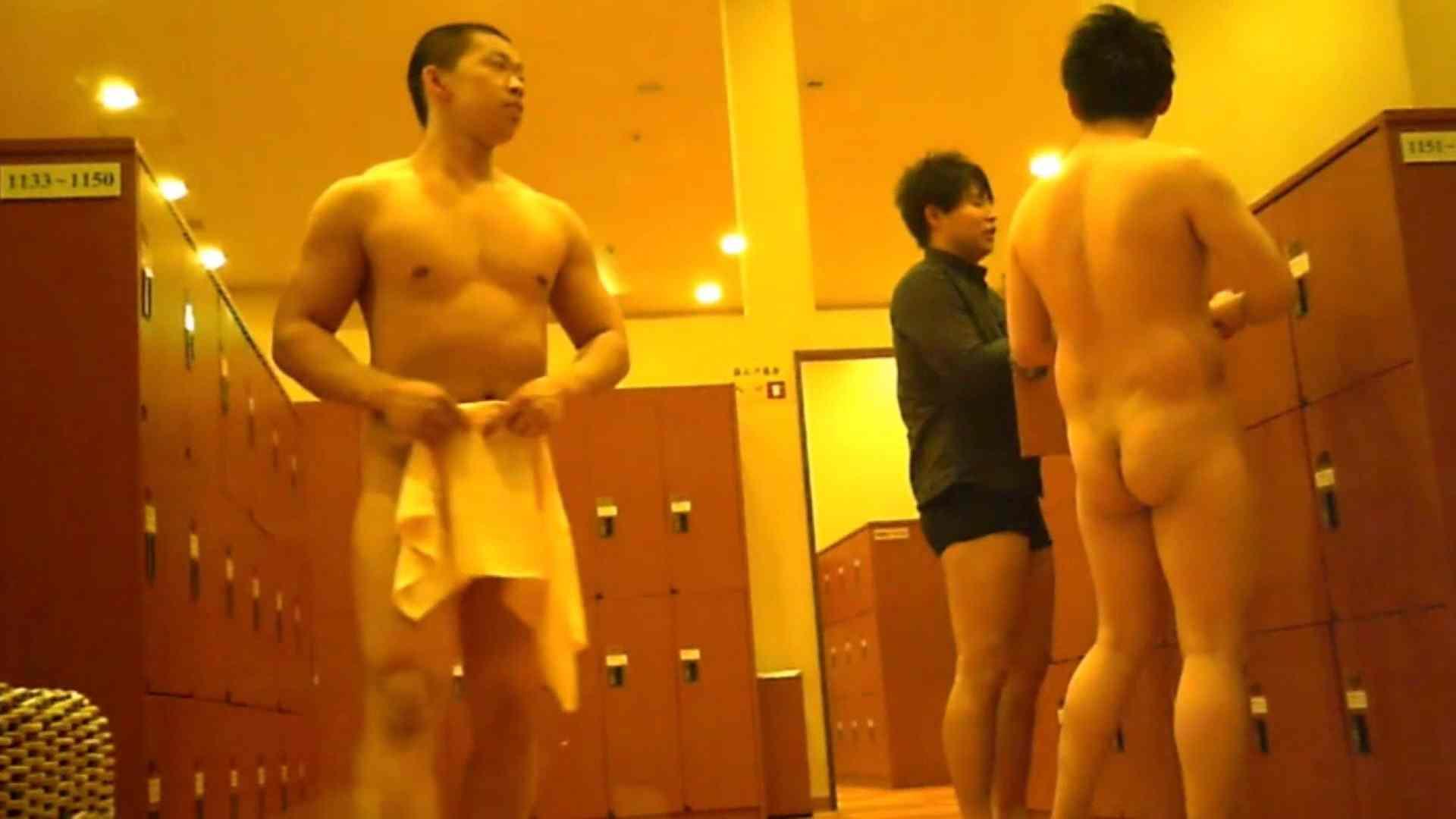 無修正セックス盗撮:行くぜ!がっつり男風呂!Vol.12:イケメン